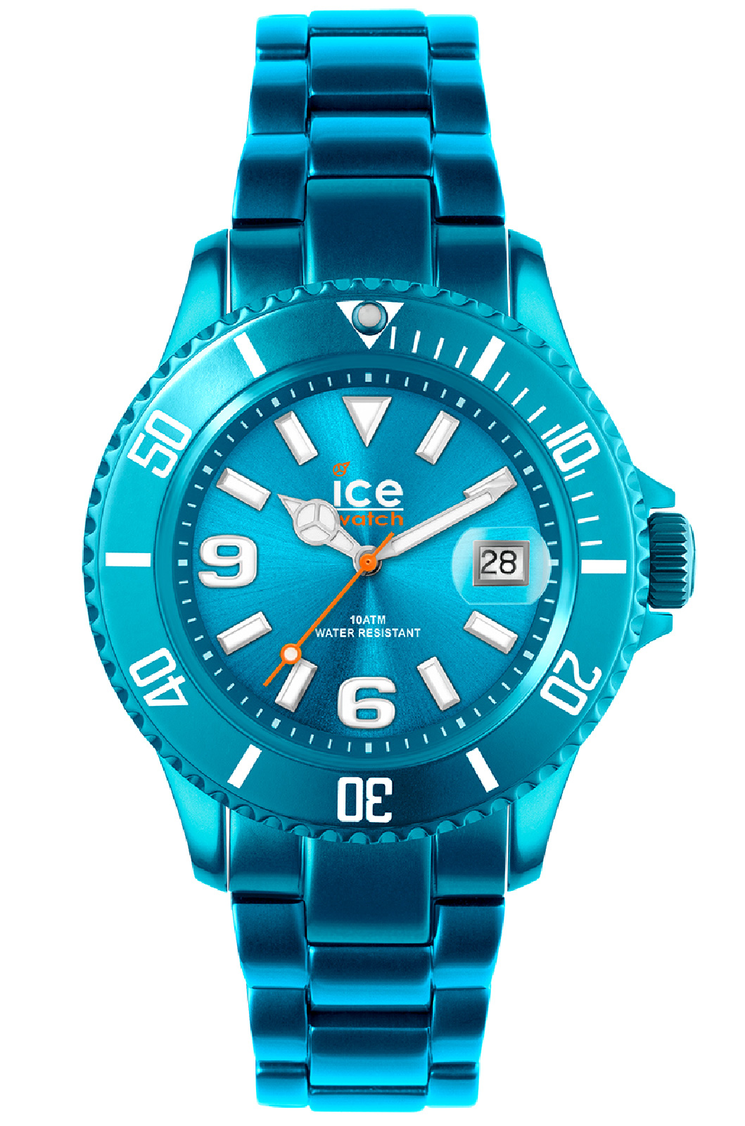 ICE WATCH OROLOGIO ALU TIME UNISEX IN ALLUMINIO TURCHESE CON DATA AL.TE.U.A.12