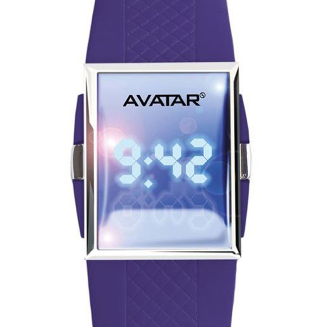 AVATAR BY ZOPPINI OROLOGIO A LED VIOLA V1235_AVT09